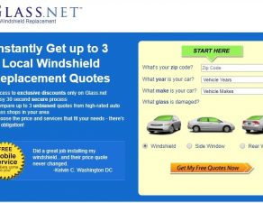 Windshield Price Quote GlassNET