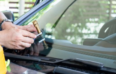 windshield repair at work
